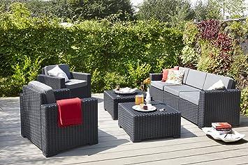 Allibert 212351 Lounge Sessel California Chair, Rattanoptik ...