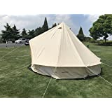 DANCHEL 4-Season Family Bell Tent Cotton Tents Tipi 3M/ 10 Feets (Color: Khiki(Same with the main photo), Tamaño: Diameter 3m=10ft)