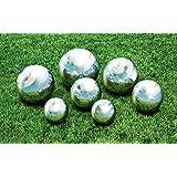 Kovot 7 Piece Garden Sphere Set - 7 Stainless Steel Gazing Balls Ranging From 2 3/8