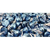 Hershey's Kisses, Milk Chocolate in Light Blue Foils (Pack of 2 Pound) (Color: Light Blue, Tamaño: 1 Pack)