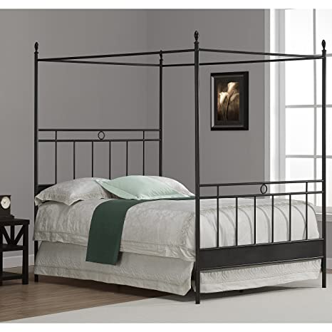 Metro Shop Cara Full Metal Canopy Bed-Cara Full Metal Canopy Bed
