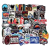 Sticker Decals - Go Fashing Laptop Vinyl Stickers car sticker For Snowboard Motorcycle Bicycle Phone Mac Computer DIY Keyboard Car Window Bumper Wall Luggage Decal Graffiti Patches (50 Pcs Go Fishing) (Color: 50 Pcs Go Fishing)
