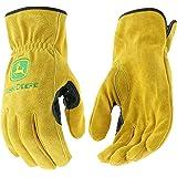 West Chester John Deere JD00004 Premium Split Cowhide Leather Driver Work Gloves: Large, 1 Pair (Color: Tan, Tamaño: Large)