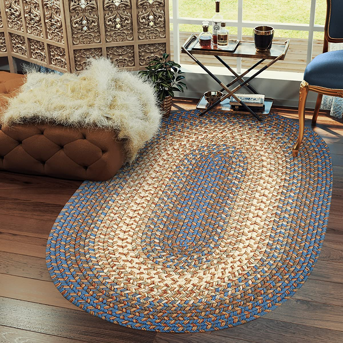 Super Area Rugs Hartford Braided Indoor Outdoor Rug Textured