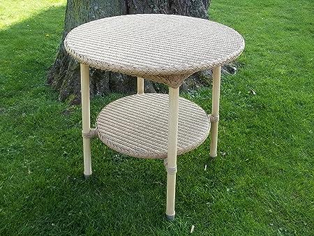 Mesa de centro, mesa auxiliar de acero de Loom de aluminio, 60 cm, diámetro de