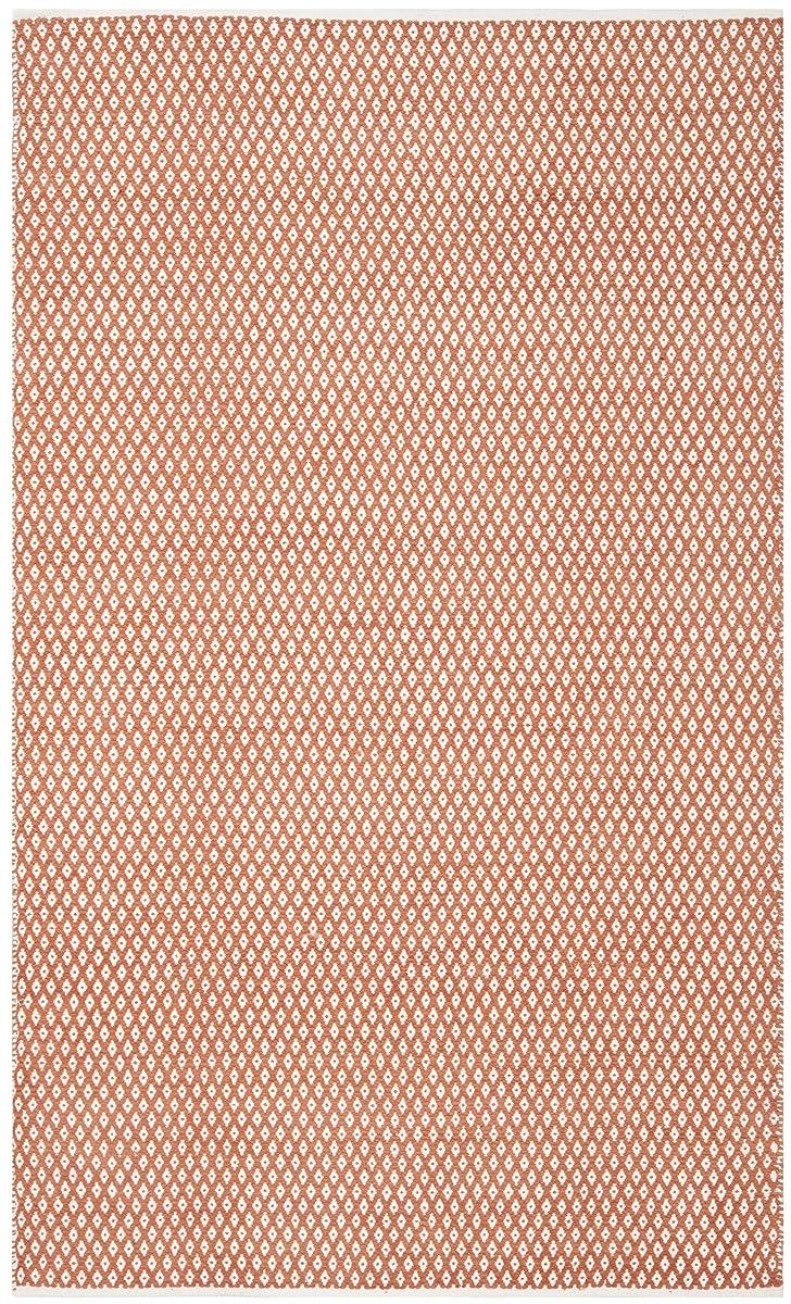 Safavieh Boston Collection BOS685C Handmade Orange Cotton Area Rug (5 x 8)