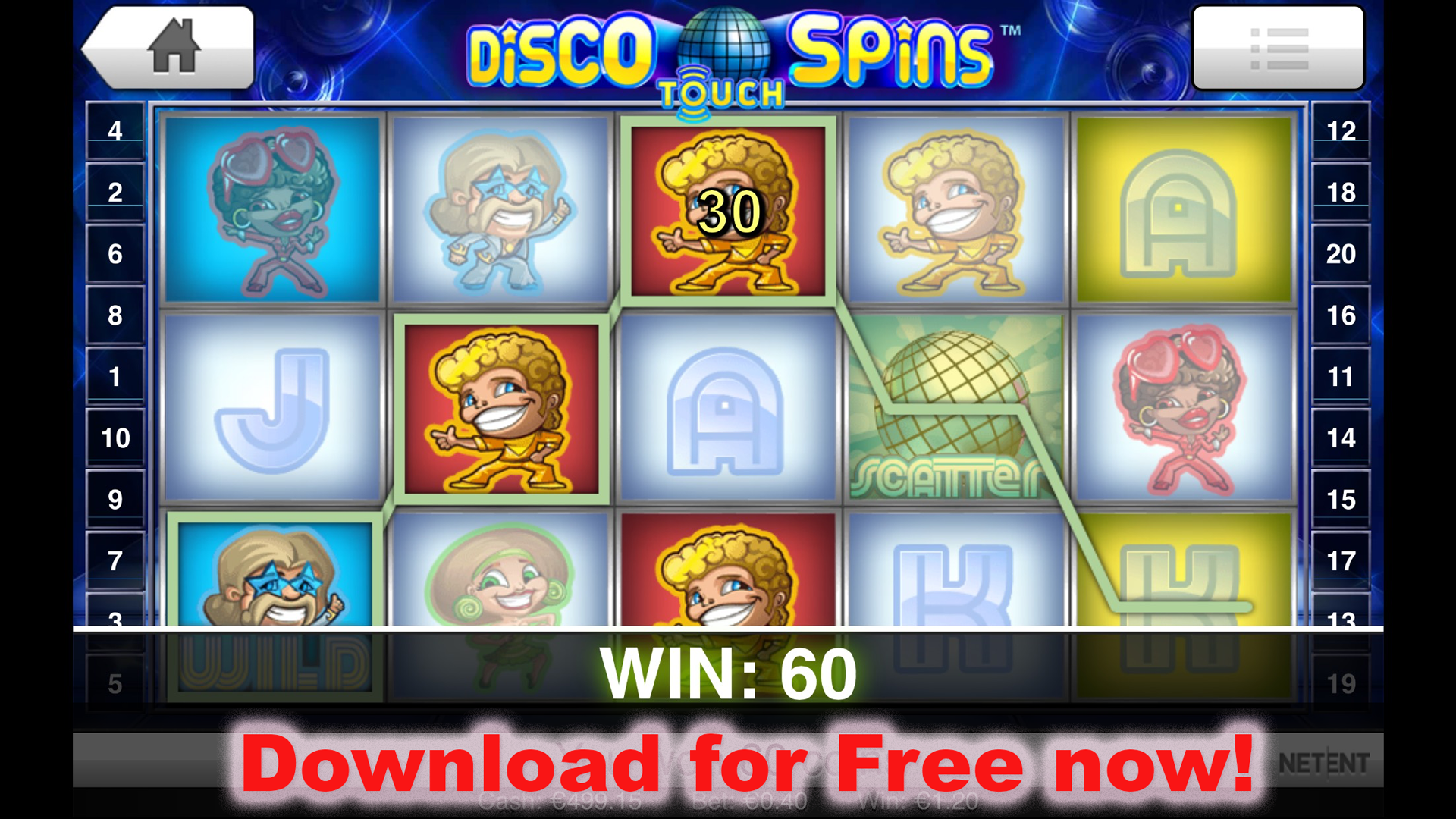 Disco Spins - Free Disco Slot Machine Online