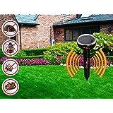 Solar Exterminator mole repellent, sonic solar repellents, water resistant, fights off gophers, VOLES, SNAKES, MICE, SHREWS