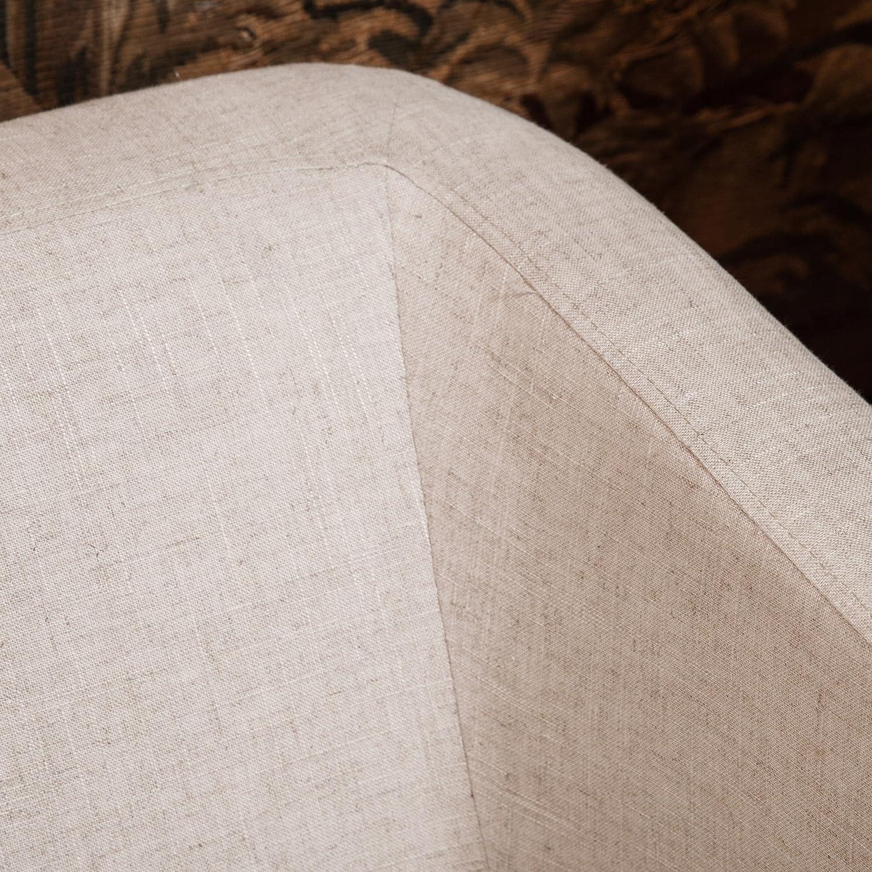 Layton Modern Beige Fabric Loveseat