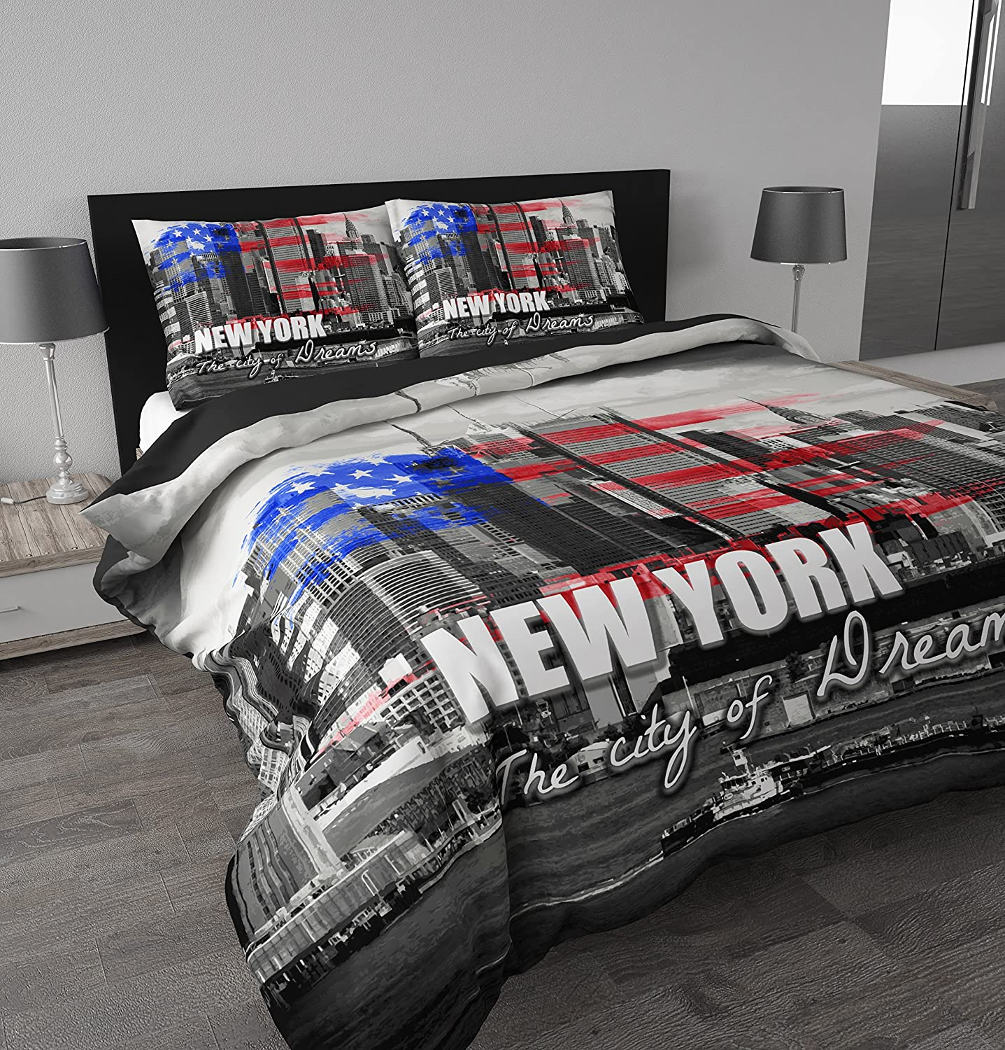 Housse couette new york personne for Housse new york
