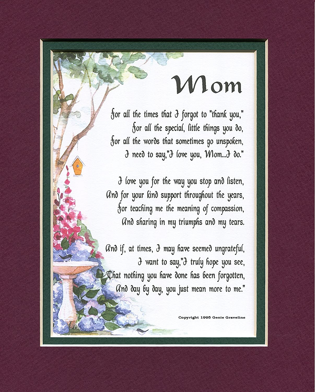 Special Gifts For Mom Part - 33: Mom Framed Poem