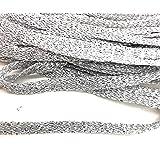 Soft Weave Silver Metallic Flat Braid Silver Trims 1/4