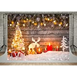 Kate Golden Lighting Photography Backdrops Wooden Wall Christmas Tree Background for Photo Studio (10x6.5ft) (Color: 5453, Tamaño: 10x6.5ft)