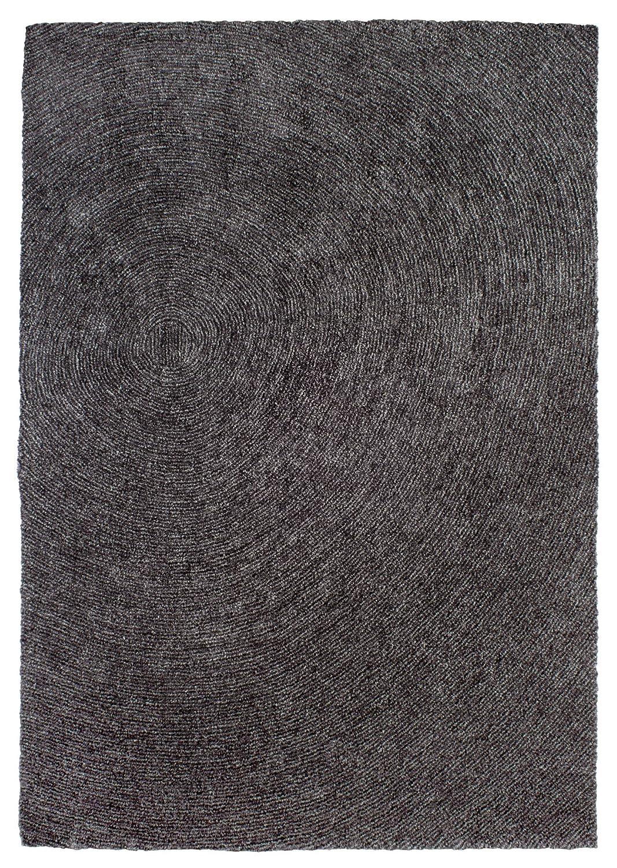 """TEPPICHWELT SONA-LUX Teppich handgetuftet anthrazit """"Größe auswählen"""" 140 x 200 cm"""
