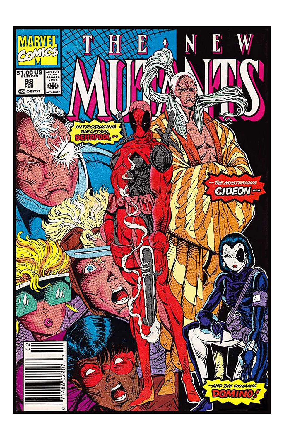 все цены на  Marvel Comics Stan Lee The New Mutants #98 Dead Pool 1st Appearance Unsigned 11x17 Comic Cover Photograph  в интернете
