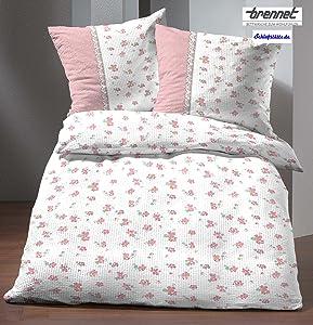 Brennet Mako Soft Seersucker Bettwäsche 155x220 cm in rosa    Kundenbewertung und Beschreibung