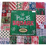 Pine St. Square 12x12 Premium Cardstock Christmas Scrapbooking Paper Pack 60 Sheets Christmas (Tamaño: 12-x-12-Inch)