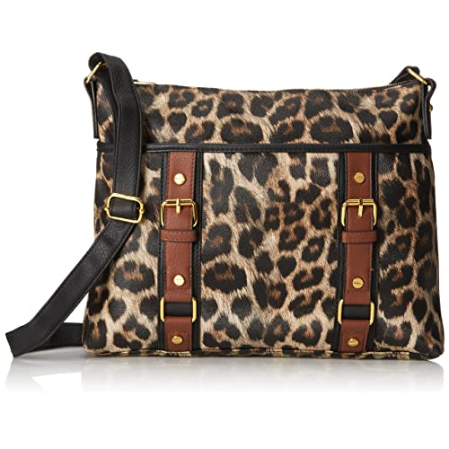 DEL MANO Leopard Cross B with Adjustable Strap Cross Body Bag