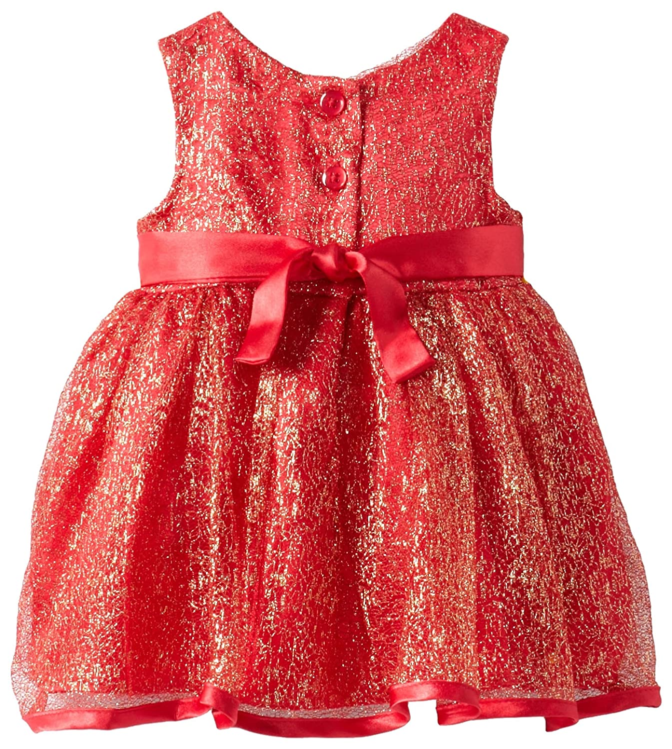 Youngland Baby-Girls Newborn Sparkle Mesh Dress with Cardi and Panty