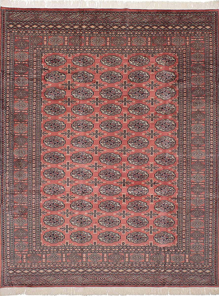 "Ecarpetgallery Hand-knotted Finest Peshawar Bokhara Elephant Foot 73"" x 97"" Brown 100% Wool area rug"