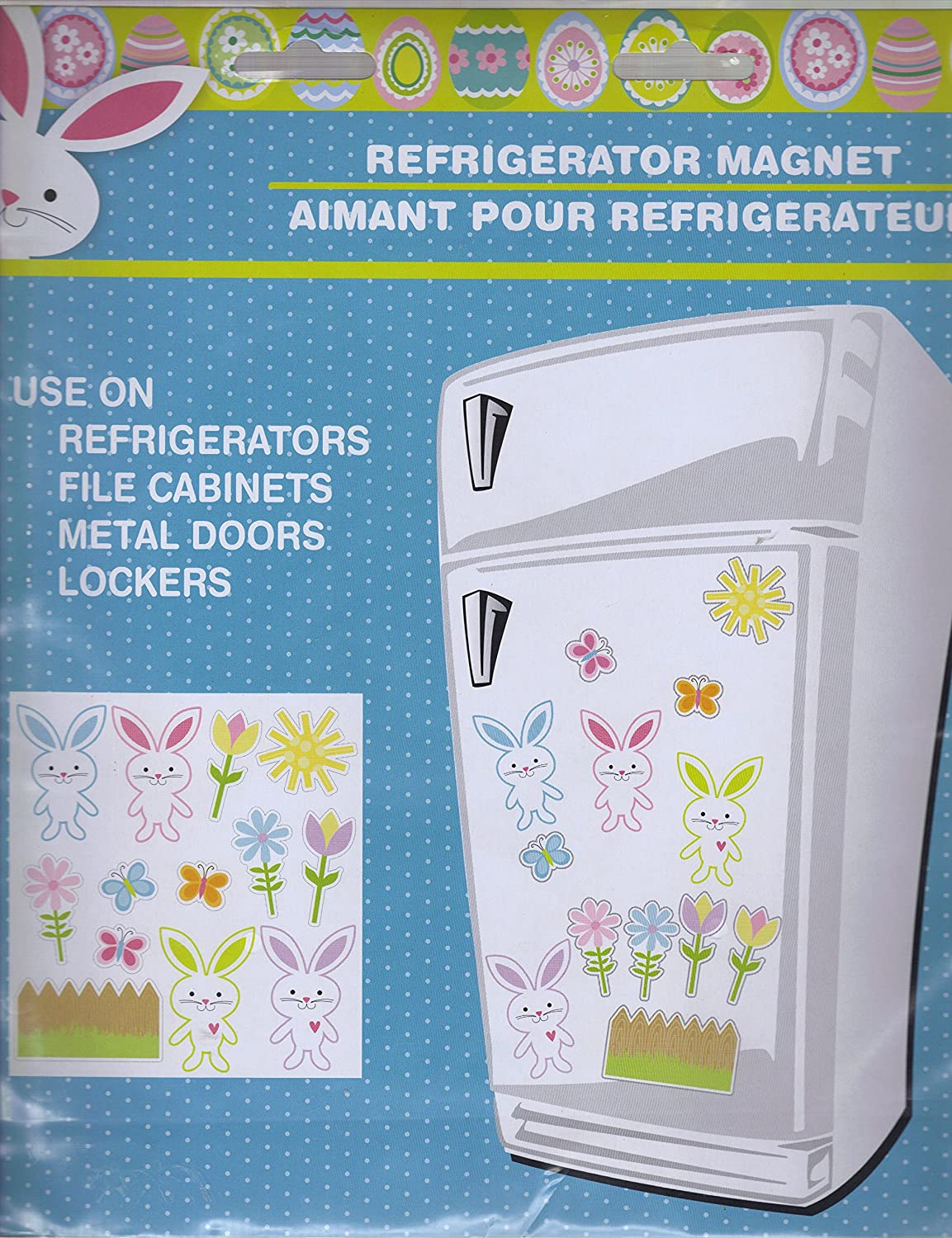 Build Your Own Easter Bunny, Flower & Butterfly Refrigerator Magnet Sheet