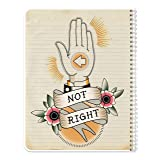 BookFactory NotRight (Left-Handed) Notebook/Lefty Notebook 120 Pages 8.5