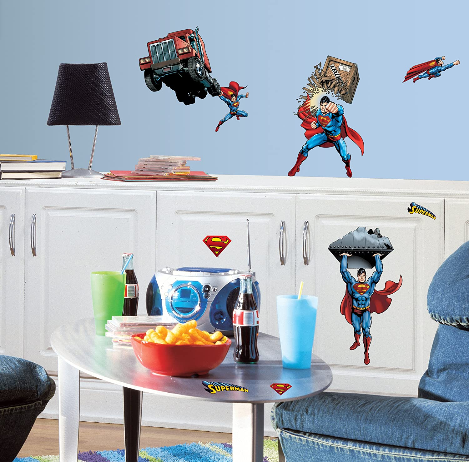 Superman: Day Of Doom Peel & Stick Wall Decals