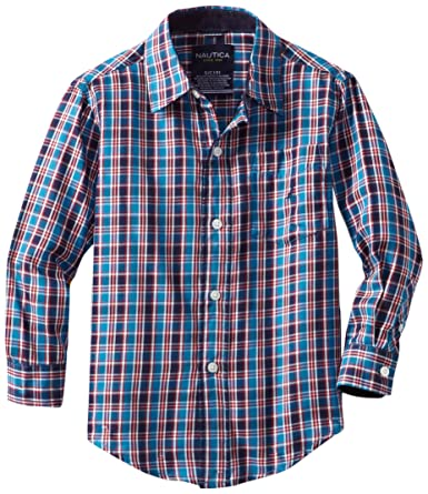 Nautica诺帝卡2-7岁男童全棉格子衬衫  - 第1张  | 淘她喜欢