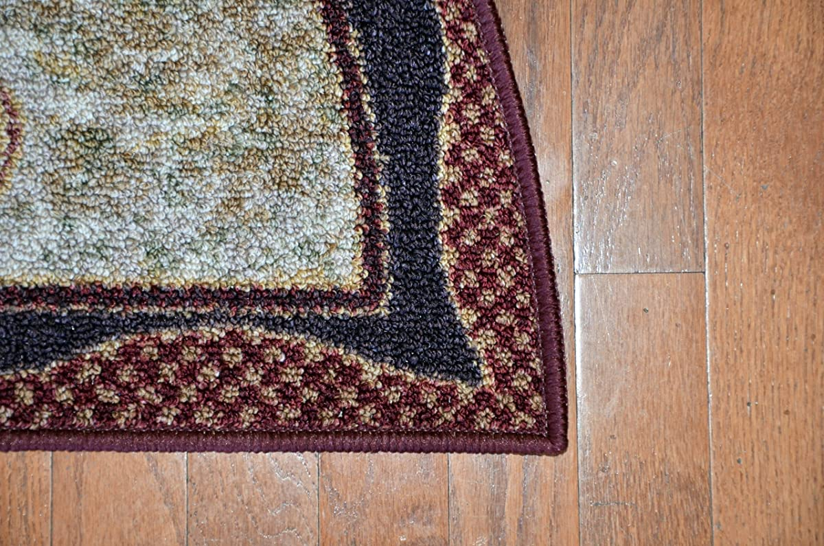 """Washable Non-Skid Rooster Kitchen Mat/Rug Half Circle 19"""" x 31"""""""