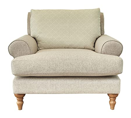 Grace Chair, Fabric - Pale Oatmeal & Dainty Geometric