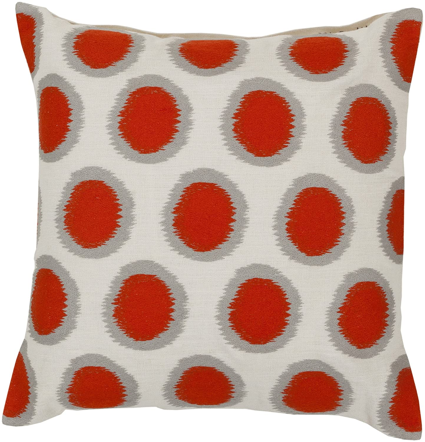 Surya AR092-1818D Down Fill Pillow, 18 by 18-Inch, Poppy