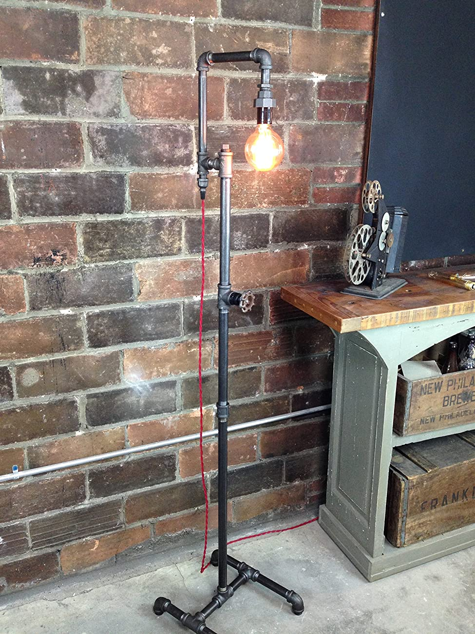 Edison Bulb Floor Lamp - Industrial Style Floor Lamp 1