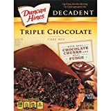 Duncan Hines Decadent Triple Chocolate Cake Mix, 21-Ounce (Pack of 4) (Tamaño: 21 Ounces)