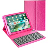 iPad Mini Keyboard + Leather Case, Alpatronix KX101 Bluetooth iPad Mini Keyboard Smart Case w/Removable Wireless Keyboard, Folio Protection & Built-in Tablet Stand for iPad Mini 4, 3, 2, 1 - Pink (Color: Pink, Tamaño: 10.2 x 10.1 x 2.1 inches)