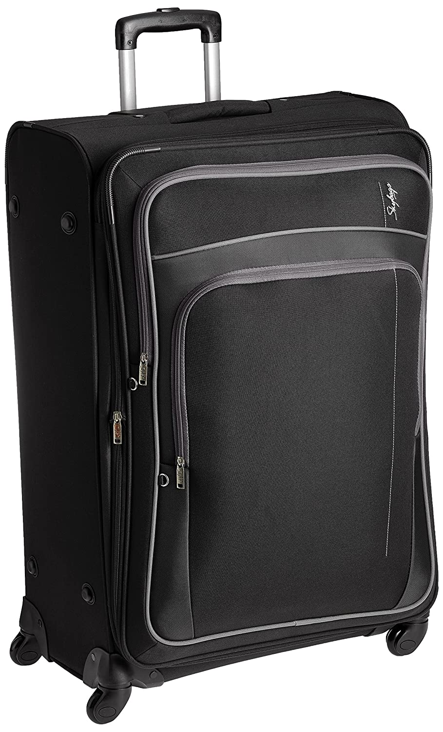 Skybags Polyester 78 cms Black Softsided Suitcase (STGRAW78BLK)