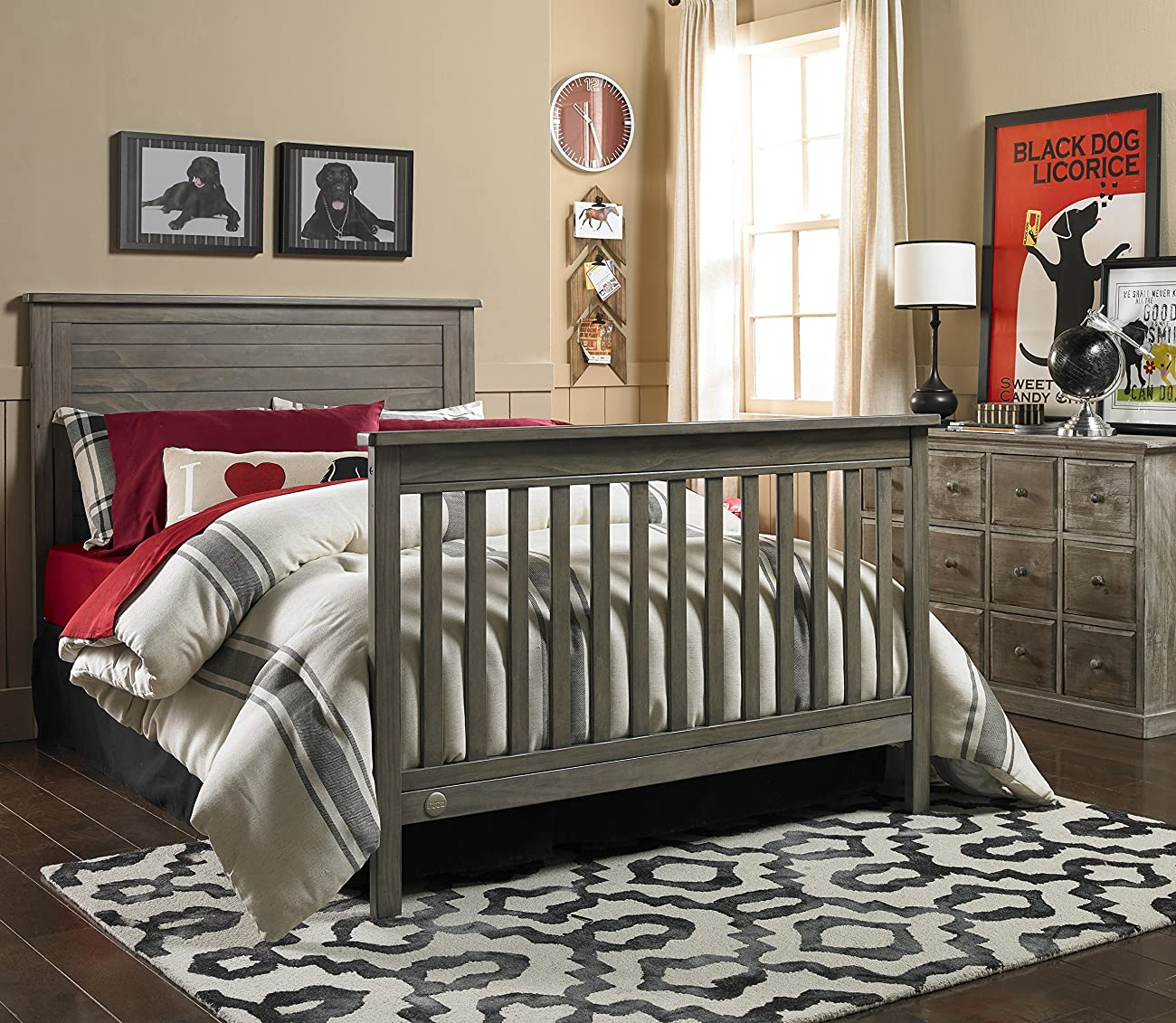 Fisher-Price Quinn 4-in-1 Convertible Crib, Vintage Grey 5