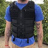 Atlas 46 AIMS Saratoga Vest Universal Chest Rig, Standard, Black | Hand Crafted in the USA (Color: Black, Tamaño: Standard)