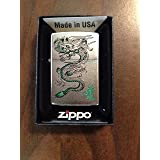 Zippo Green Dragon Windproof Lighter (Color: Green)