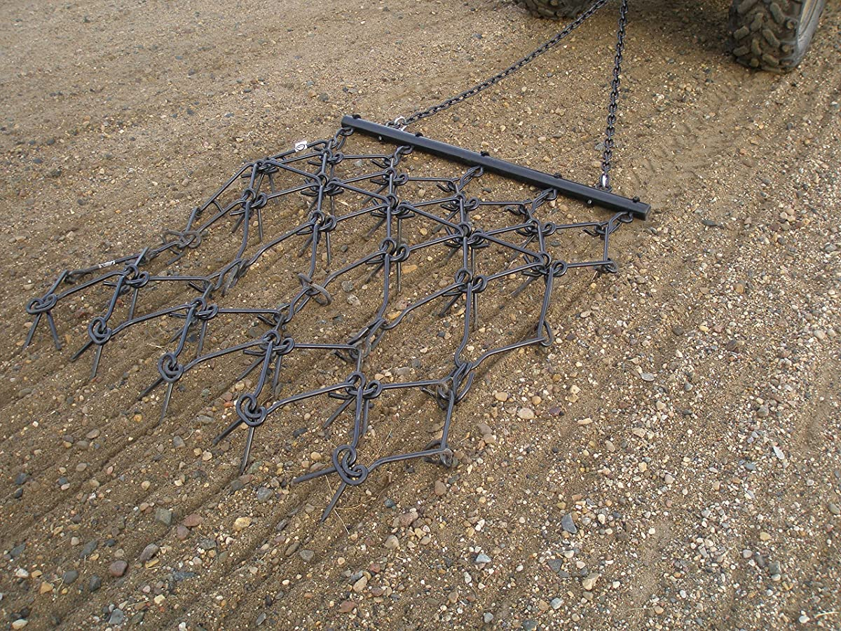 "Field Tuff HDHA-59 Heavy-Duty Drag Harrow, 4 x 4 - 1/2"" Teeth"