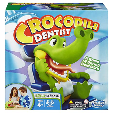 Hasbro – Crocodile Dentist – Jeu de Societé Croc'Dentiste Version Anglaise
