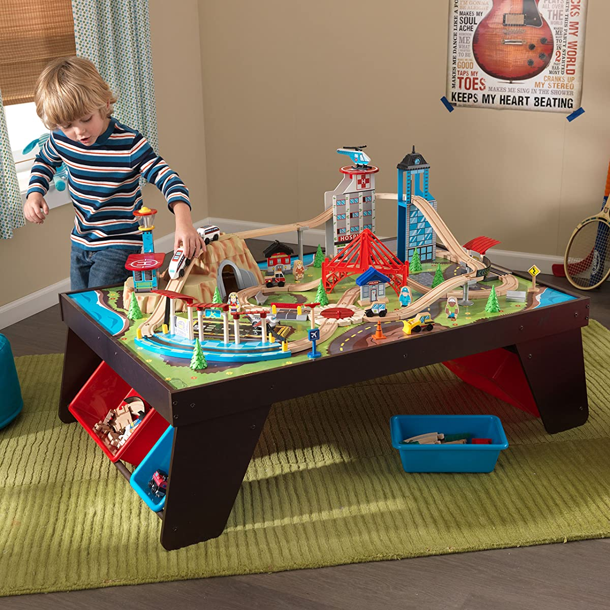 KidKraft Aero City Train Set & Table