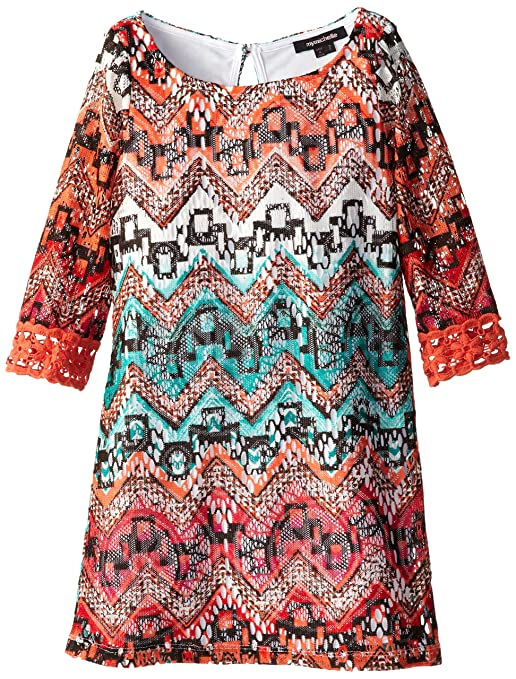 My-Michelle-Big-Girls-Shift-Dress-with-Crochet-Detail-On-Sleeve