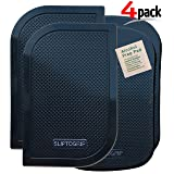 SlipToGrip Premium Cell Pads 4 Pack - Two Universal Cell Pads and Alcohol Pad. Sticky Anti-Slip Gel Pads - Holds Cell Phones, Sunglasses, Coins, Golf Cart, Boating, Speakers - Xtra Black Color