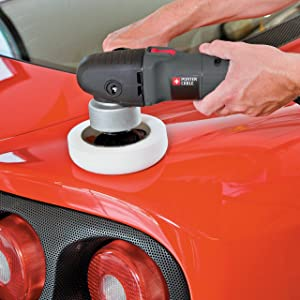 PORTER-CABLE 7424XP 6-Inch Variable-Speed Polisher (Color: gray, Tamaño: full size)