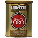 Lavazza Qualita Oro Ground Coffee, 8.8-Ounce Cans (Pack of 2) (Tamaño: Pack of 2)