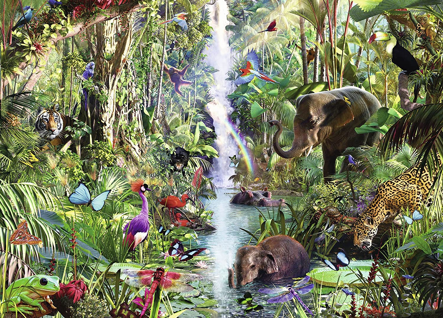 In the Jungle puzzle Ravensburger 9000