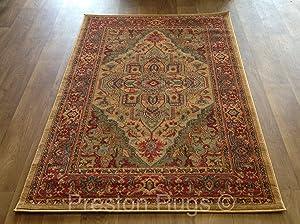 Traditional Rug Oriental Persian Polypropylene 160 x 230 cm (5&'3  x 7&'7 ) Machine Made Beige       review
