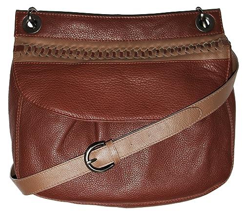 Brown Leather Cross Shoulder Bag 85
