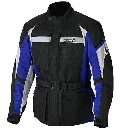 NERVE 1510110202_06 Smart Blouson Moto Touring Textile, Noir/Bleu, Taille : XXL
