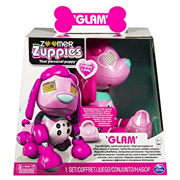 Zoomer Zuppy Love Glam Pink Puppy Interactive Electronic Toy Dog